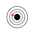 Blank target sport for shooting competition vector