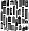 Skyscraper seamless pattern vector