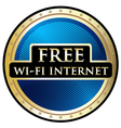Free wifi label vector
