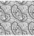 Black and white ornate seamless flower paisley vector