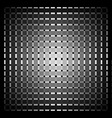 Optical art grid in black and grey with white dots vector
