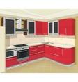 Kitchen interior with vector