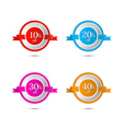 Discount stickers labels isolated on white vector