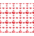Seamless pattern with repeating hearts vector