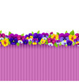 Background with colorful pansies vector