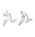 Running gestures vector