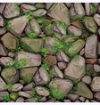 Mossy stone seamless texture vector