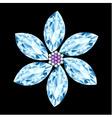 Flower gem stone composition vector