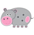 Cute cartoon isolated fabric animal hippo vector