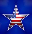 American star badge vector