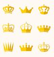 Vintage antique crowns vector