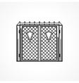 Line icon for iron gates vector