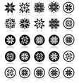 Pixelated snowflakes christmas icons vector