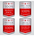 Silver badge label set with premium quality and vector