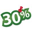 Thirty percent sticker vector