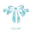 Light blue swirls damask gift bow vector