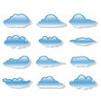 Clouds set on white vector