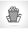 Cinema food black line icon vector