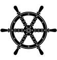 Nautical boat steering wheel silhouette vector