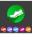 Running shoe sneaker trainer flat icon vector