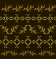 Set gold border vector