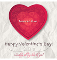 Background with red valentine heart vector