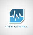 Abstract stylized vibration icon vector
