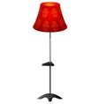Red floor lamp vector