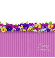 Background with color pansies vector