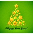 Christmas tree made from yellow cute shining vector