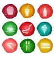 Fast food icon watercolor vector