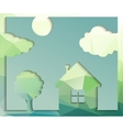 House and tree vector