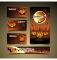 Halloween cards and banner vector