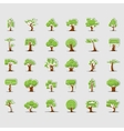 Tree symbols for green web design vector