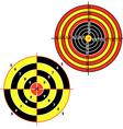 Set targets for practical pistol shooting vector
