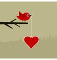 Birdie with heart vector