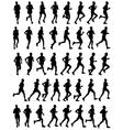 40 marathon runners vector