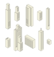 Set of tall buildings vector
