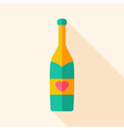 Alcohol bottle with heart vector