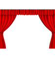 Red stage curtains vector