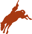 Cowboy rider silhouettes vector