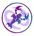 Zodiac sign cancer  watercolor vector