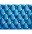 Blue button-tufted leather background vector