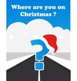 Where will you spend your christmas vector