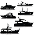 Yachts silhouette vector