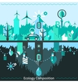 Ecology and recycling composition vector