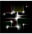 Abstract background of black squares vector