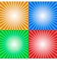 Color sun sunburst background vector