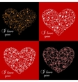Valentine day greeting cards vector