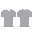 Blank t shirt gray template vector